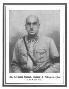Dr. Heinrich Münch, NSDAP-Mitglied und SA-Mann, Bürgermeister in Gunzenhausen, 1932